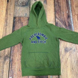 Abercrombie and Fitch XL Green and Blue Hoodie